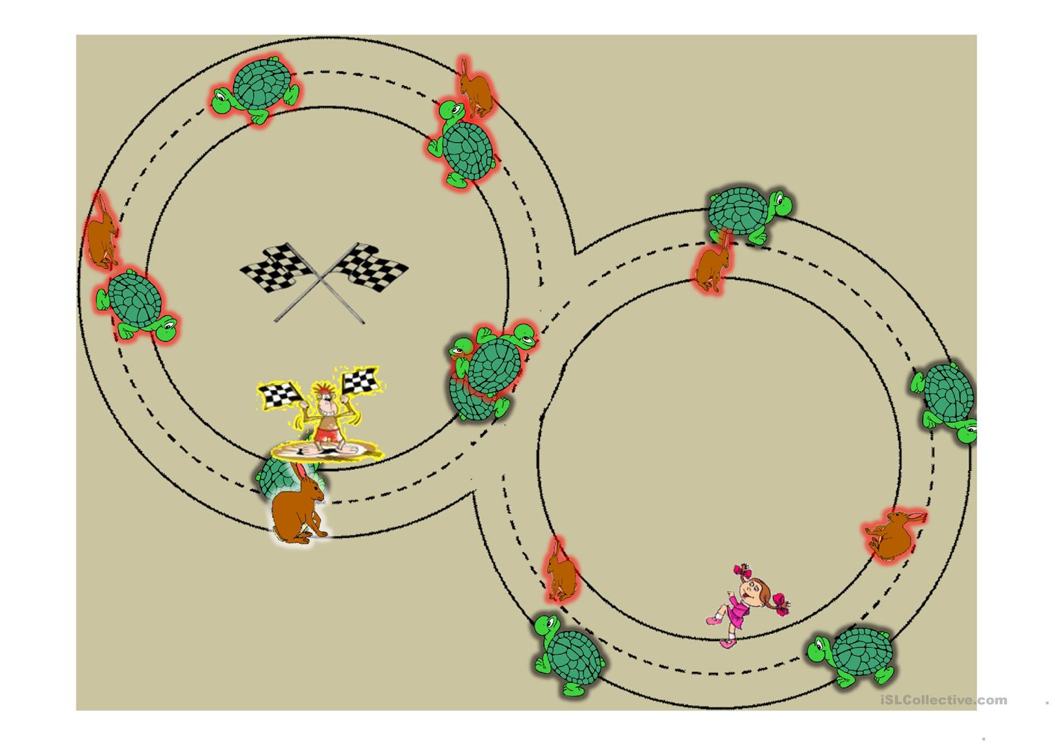 Prepositions Of Movement Rabbit And Turtle Race Worksheet