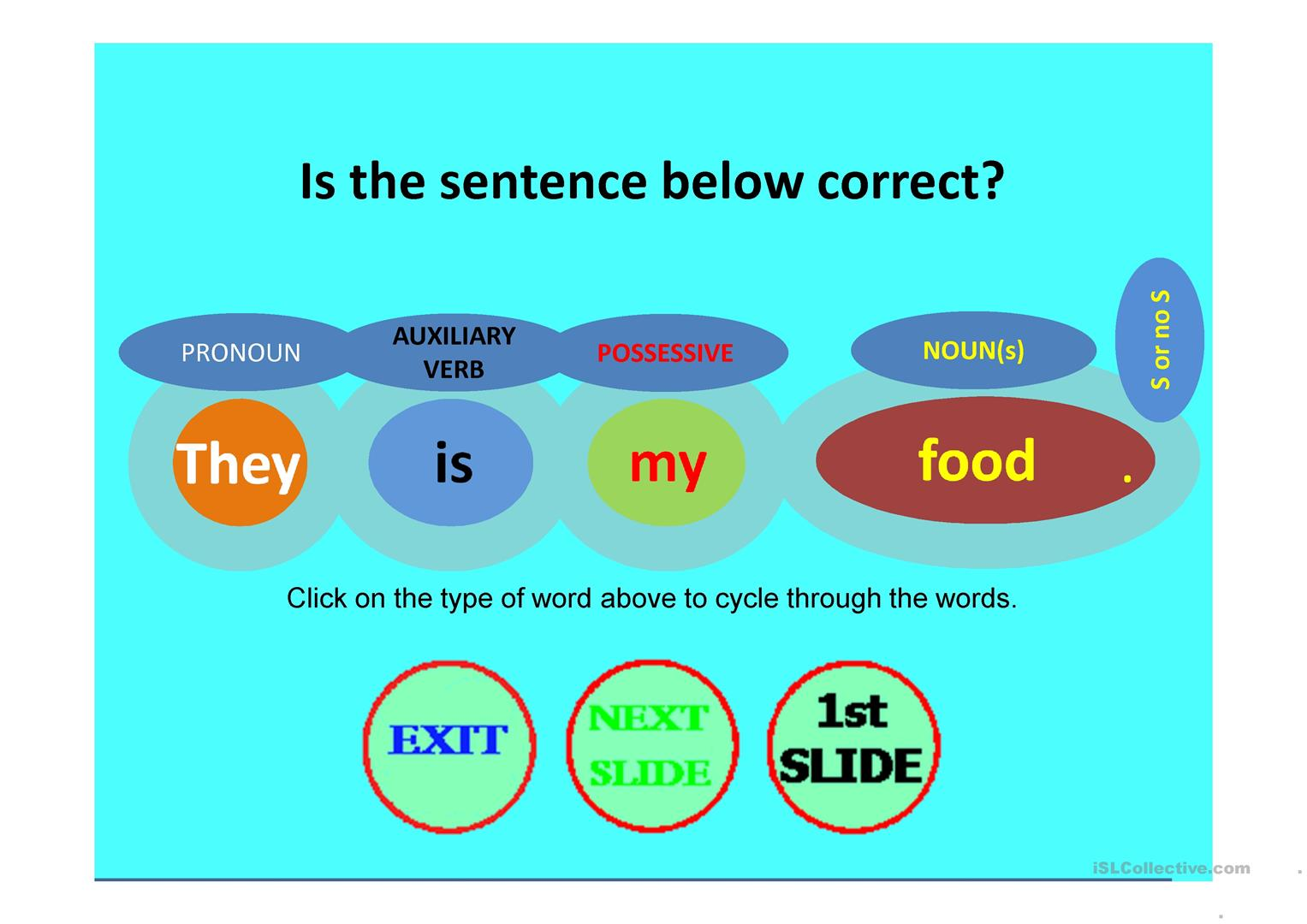 Sentence Generator Is The Sentence Correct Worksheet