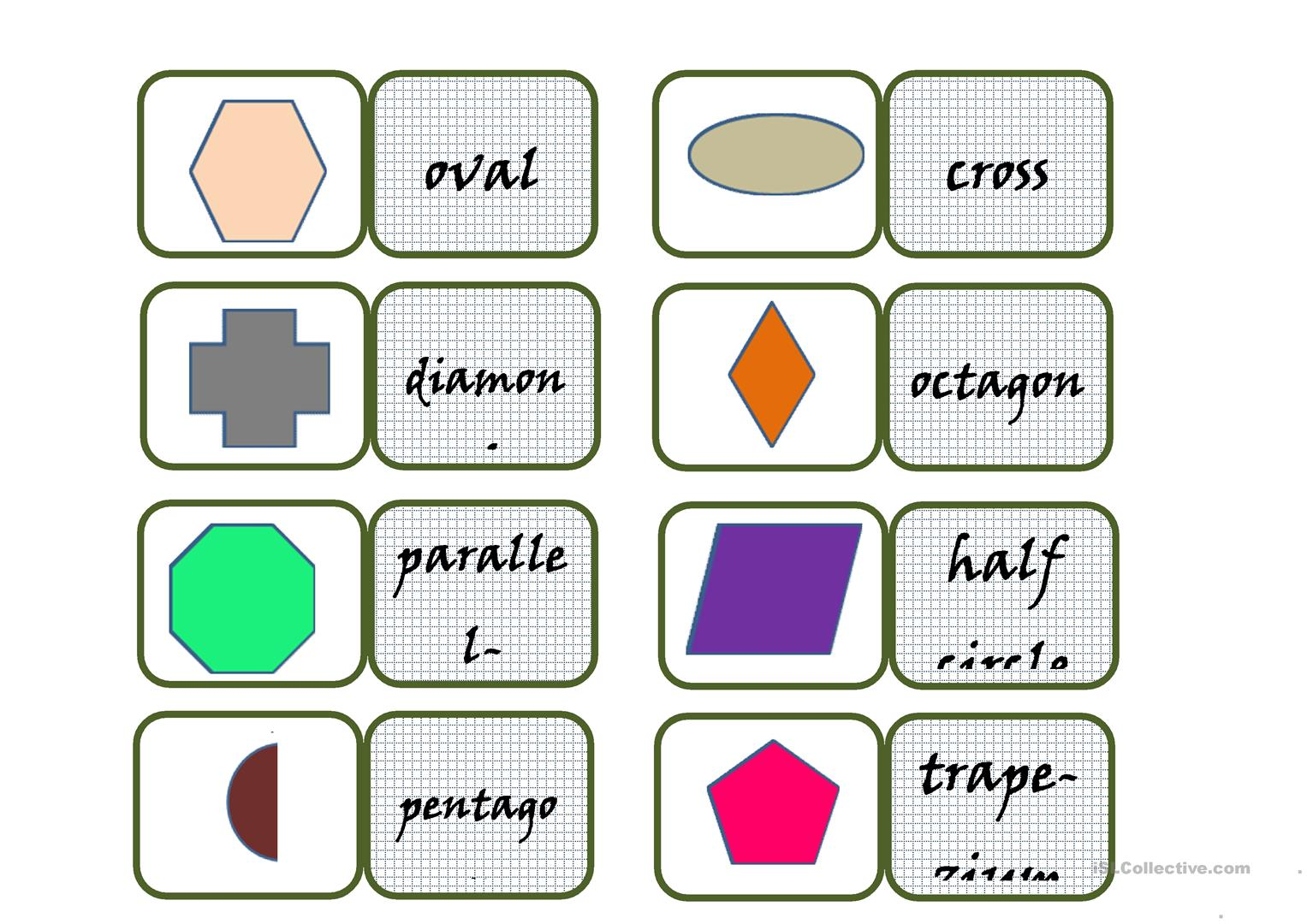 Shapes Domino Worksheet
