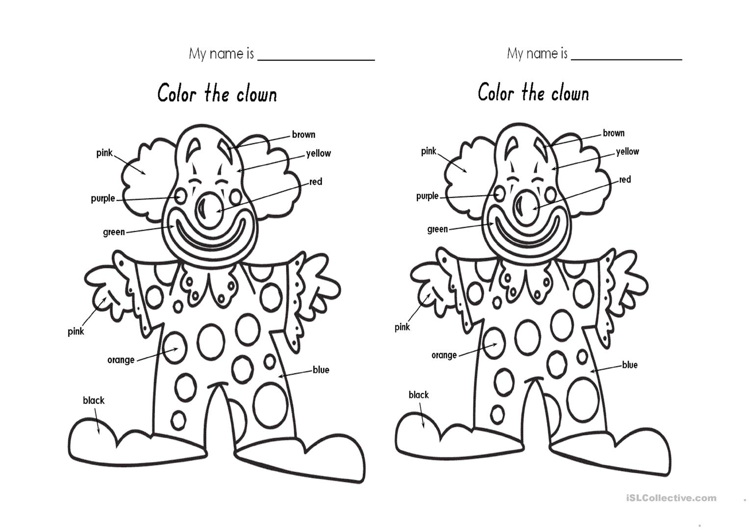 The Colors Worksheet