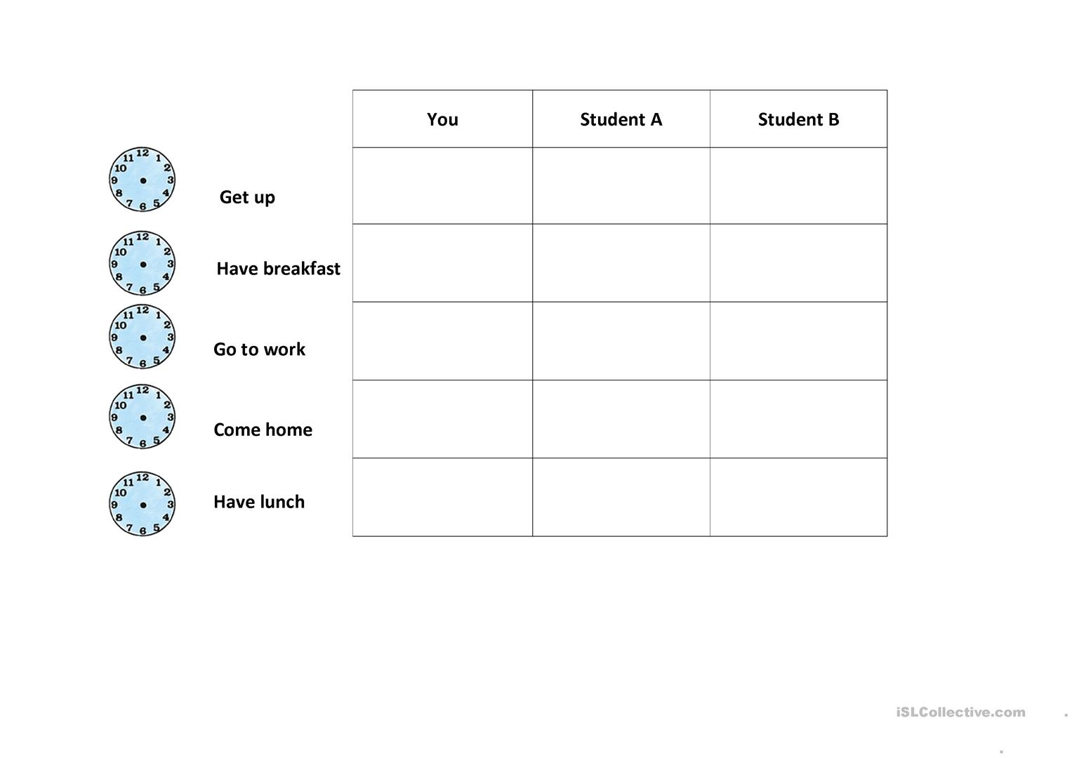 Time Telling Worksheet
