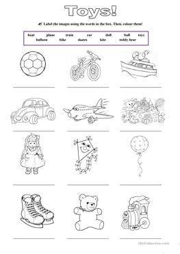 257 FREE ESL Toys worksheets