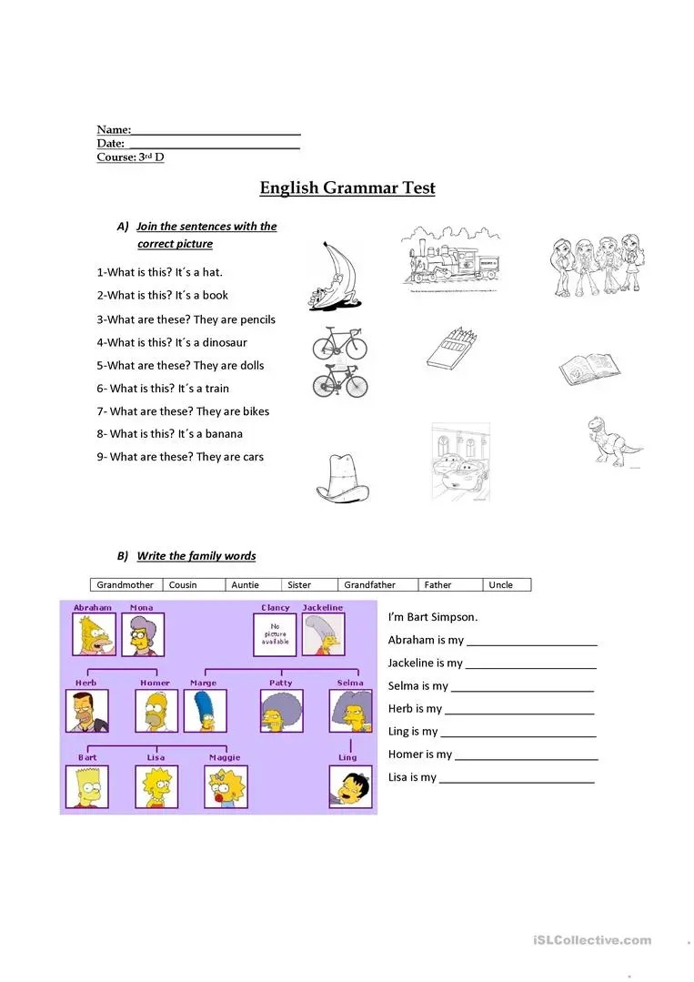 medium resolution of 3rd grade evaluation - English ESL Worksheets for distance learning and  physical classrooms