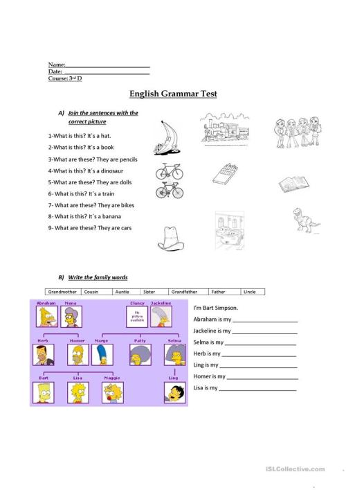 small resolution of 3rd grade evaluation - English ESL Worksheets for distance learning and  physical classrooms
