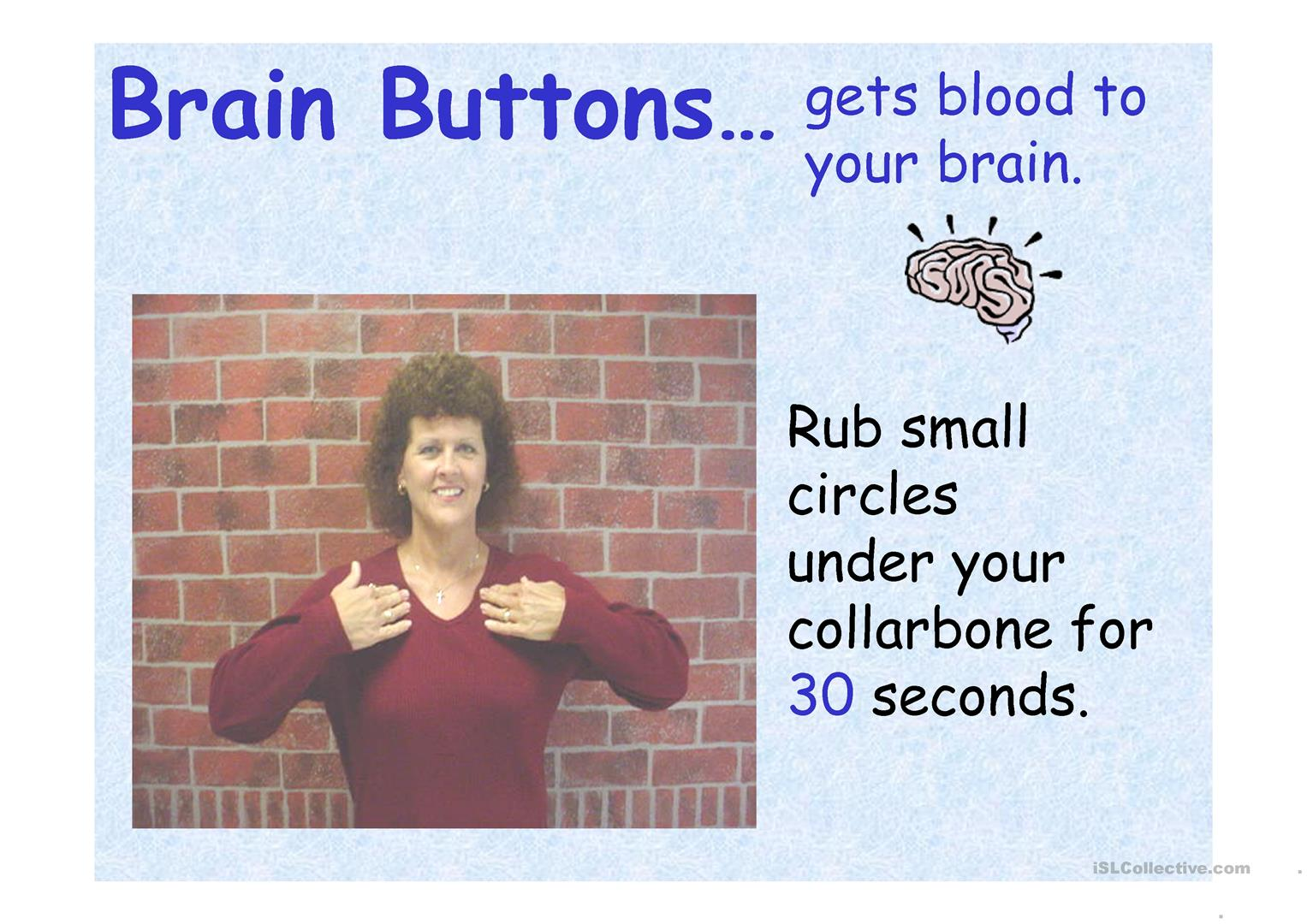 Brain Gym Exercises Worksheet
