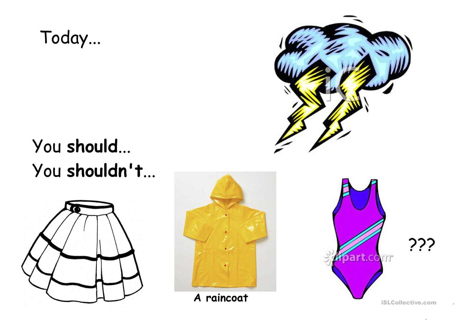 Clothes You Should Wear Worksheet