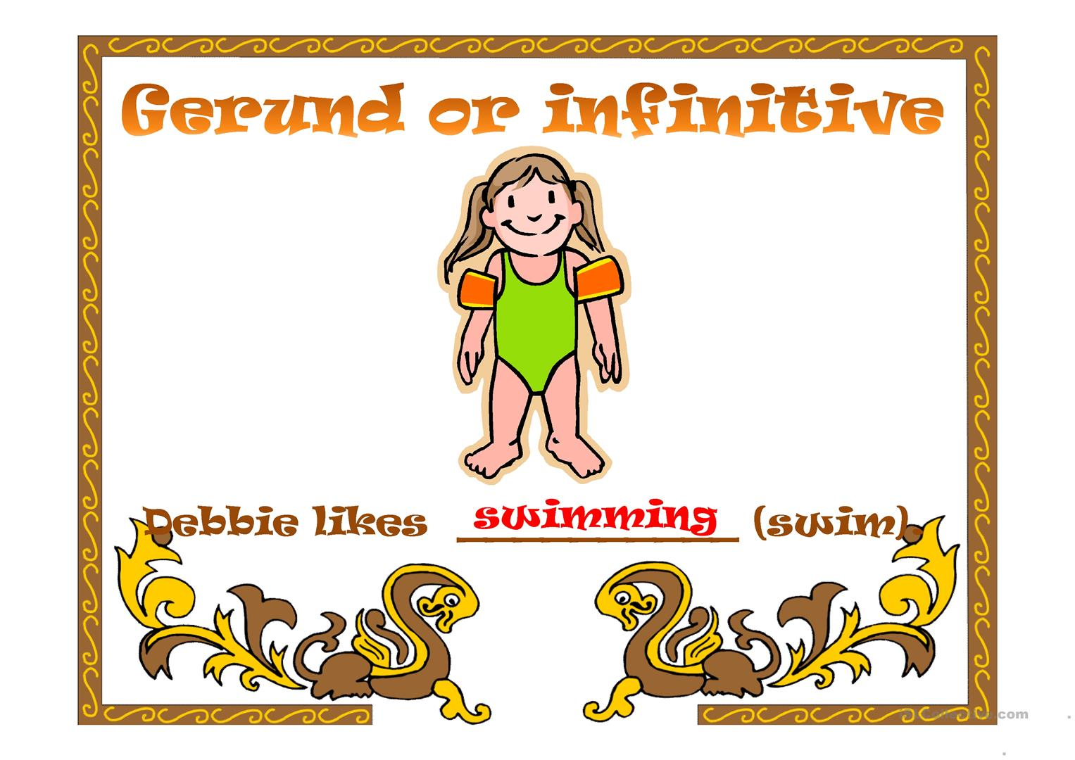 Gerund Or Infinitive Worksheet