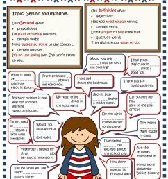Gerund or infinitive - English ESL Worksheets for distance learning and  physical classrooms [ 1079 x 763 Pixel ]