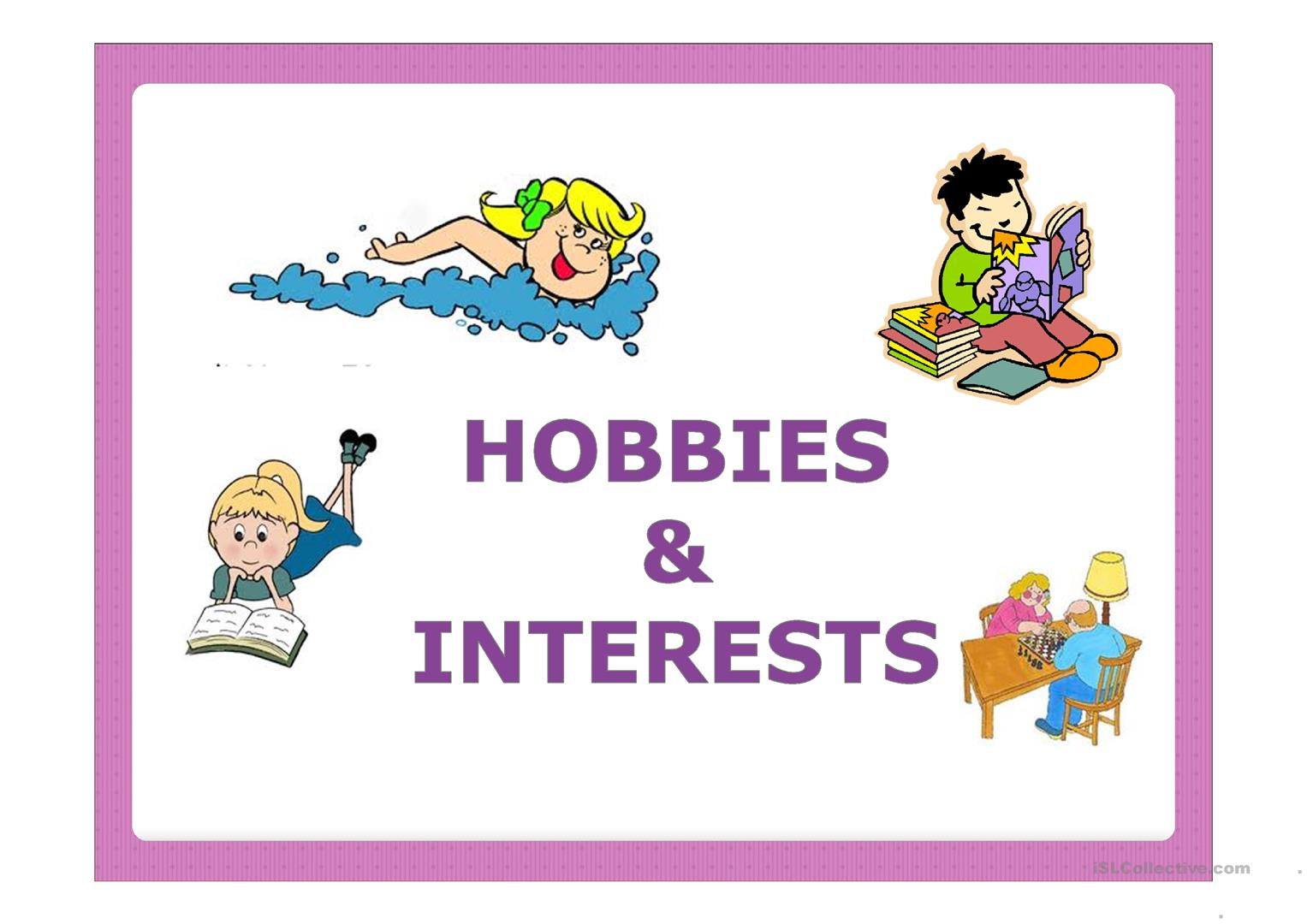 Hobbies Amp Interests Worksheet
