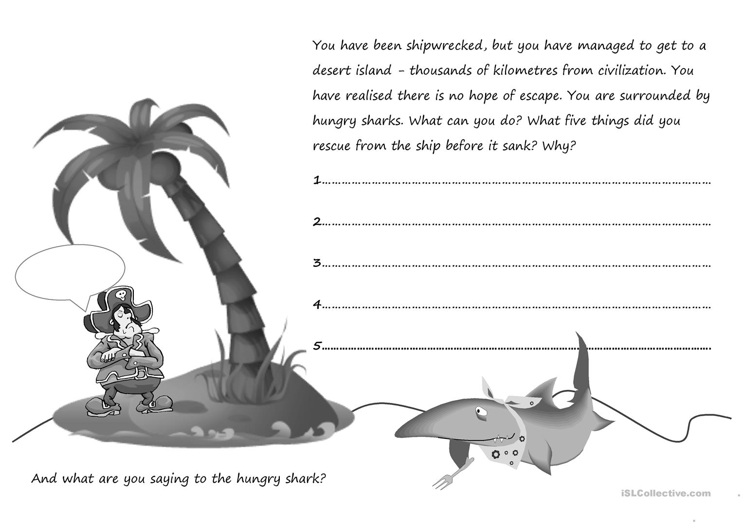 Hungry Shark Worksheet