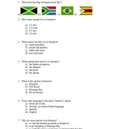 jamaica quiz - English ESL Worksheets for distance learning and physical  classrooms [ 1079 x 763 Pixel ]