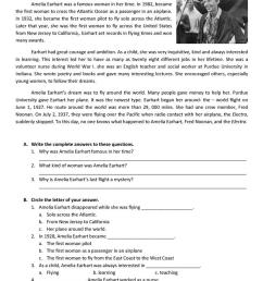 Reading about Amelia Earhart - English ESL Worksheets for distance learning  and physical classrooms [ 1079 x 763 Pixel ]