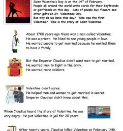 The History of Valentine's Day - English ESL Worksheets for distance  learning and physical classrooms [ 1079 x 763 Pixel ]