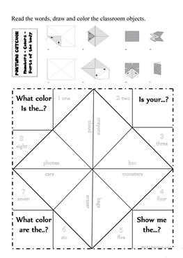 113 FREE ESL classroom objects worksheets