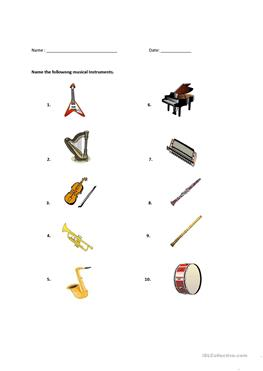 Instrument Worksheets Preschool. Instrument. Best Free