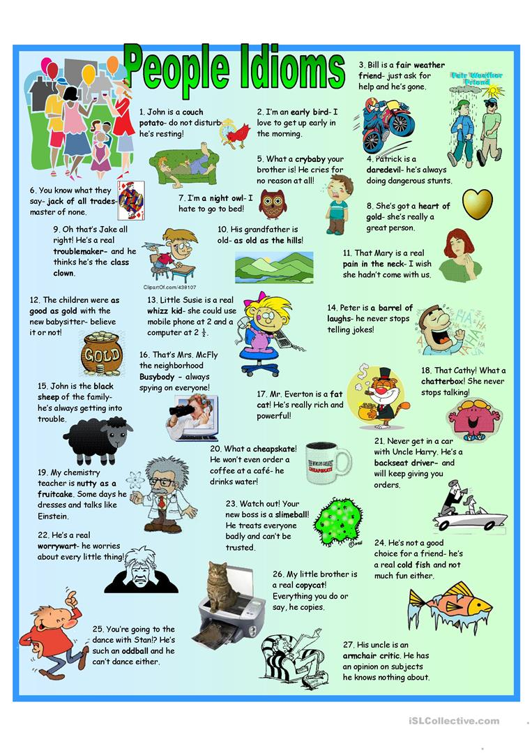 hight resolution of English ESL Idioms worksheets - Most downloaded (444 Results)