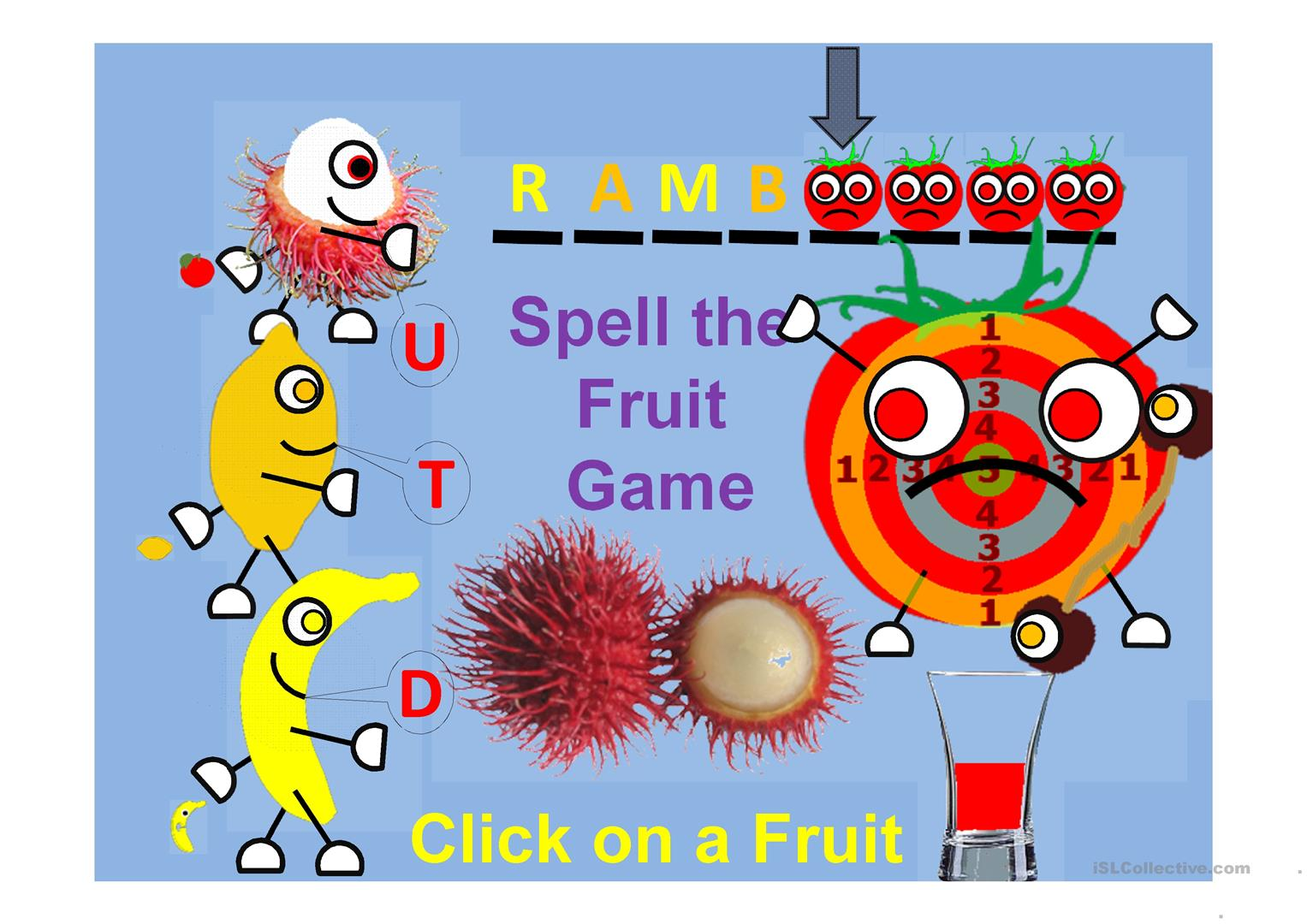 Fruit Shooting Game Spell The Fruit Part 4