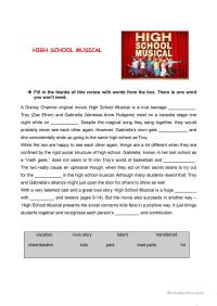 English Teaching Worksheets High School Musical. English