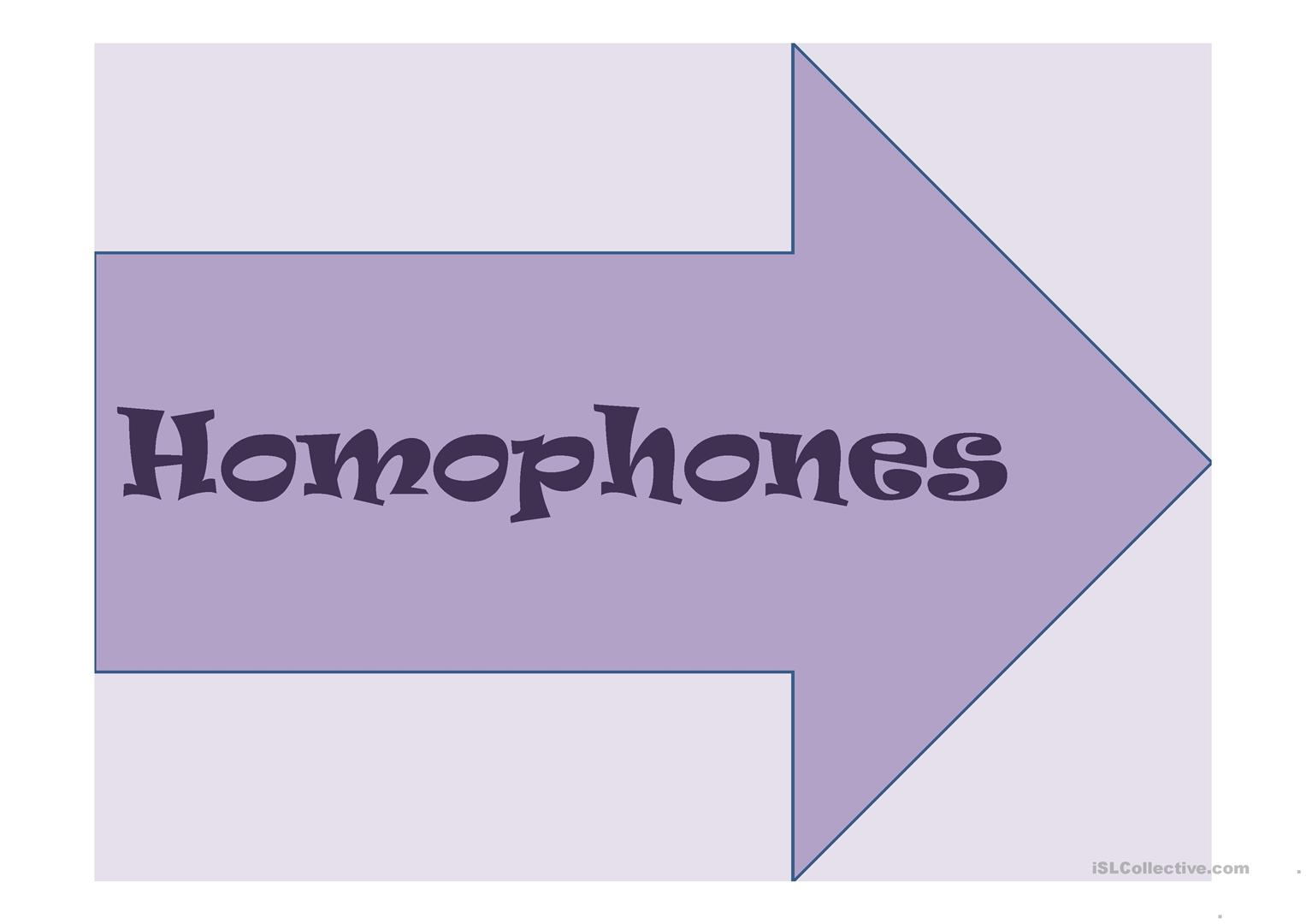 Homophones Worksheet Doc