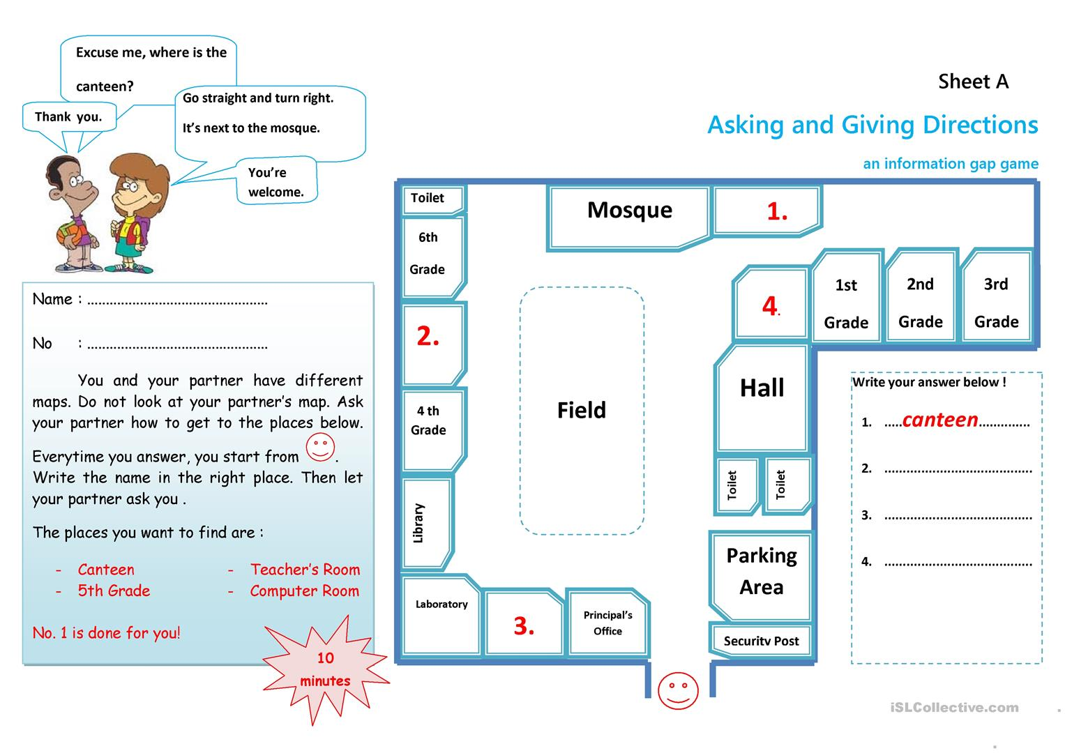 hight resolution of MY SCHOOL PLACES - English ESL Worksheets for distance learning and  physical classrooms