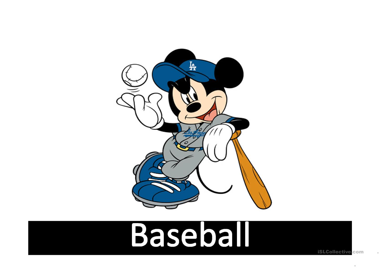 Sports With Mickey Mouse Worksheet