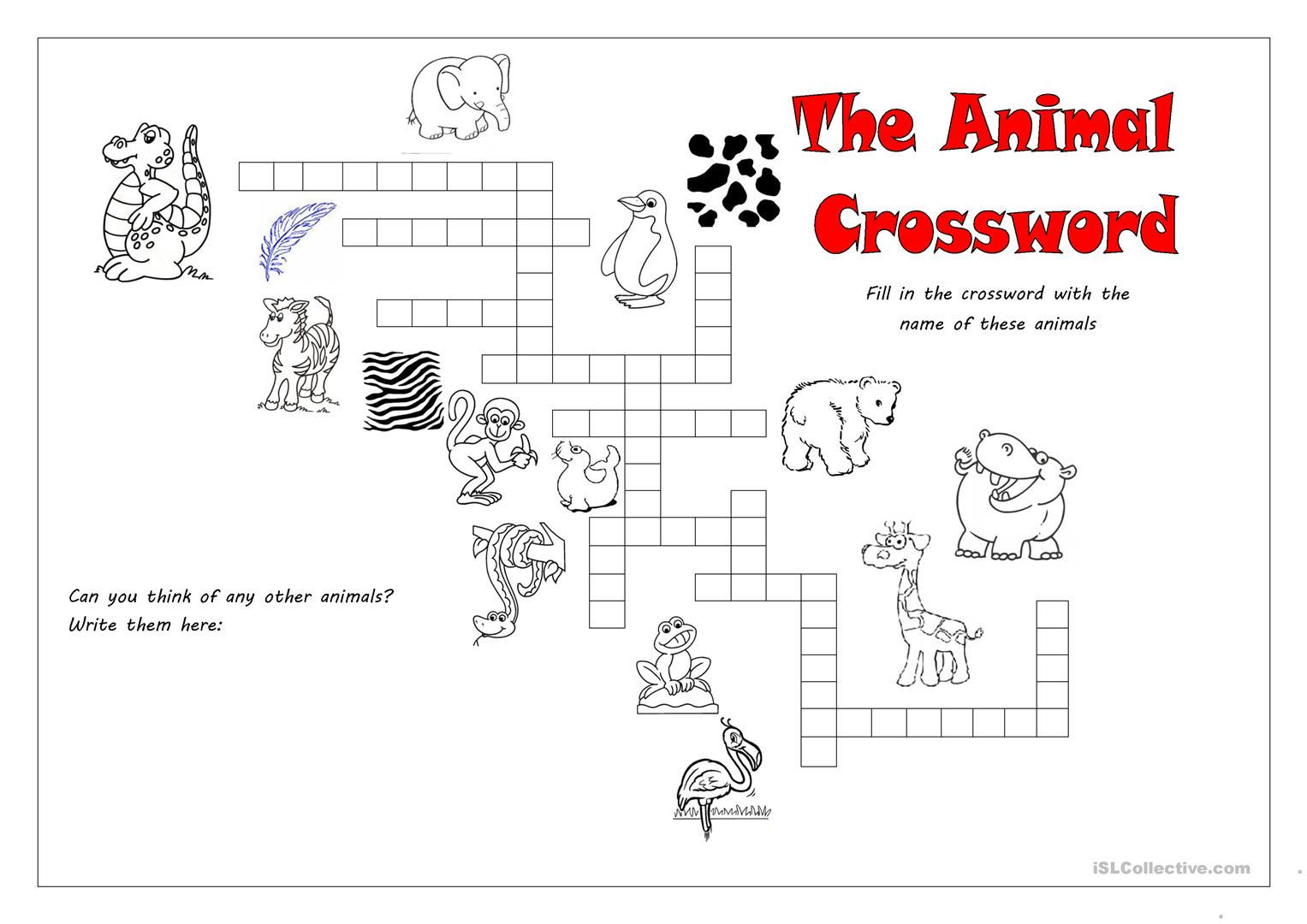 Wild Free Animals Counting Worksheet