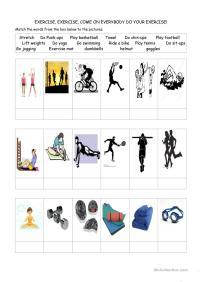 Exercise! worksheet - Free ESL printable worksheets made ...