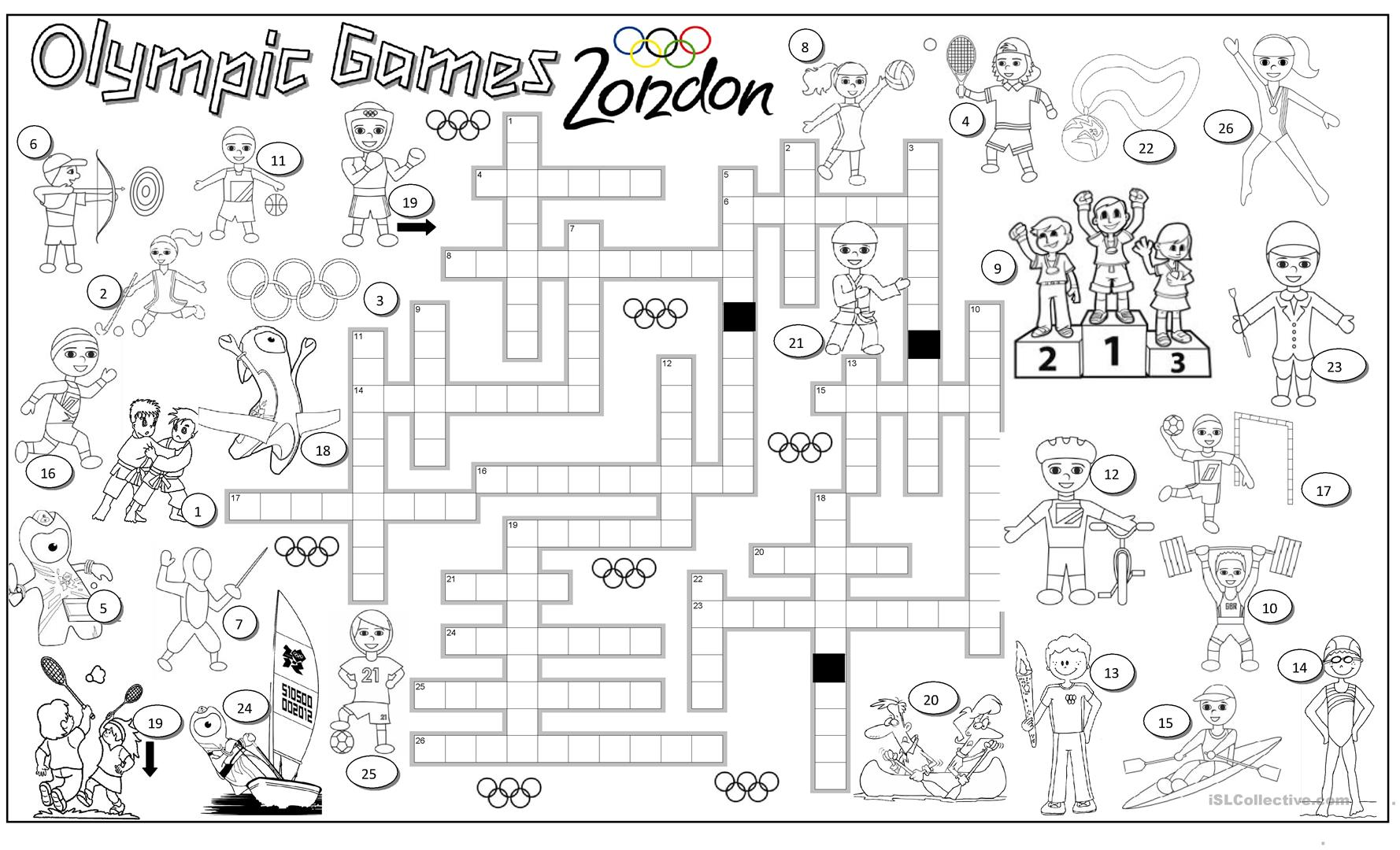 Olympic Games Worksheet