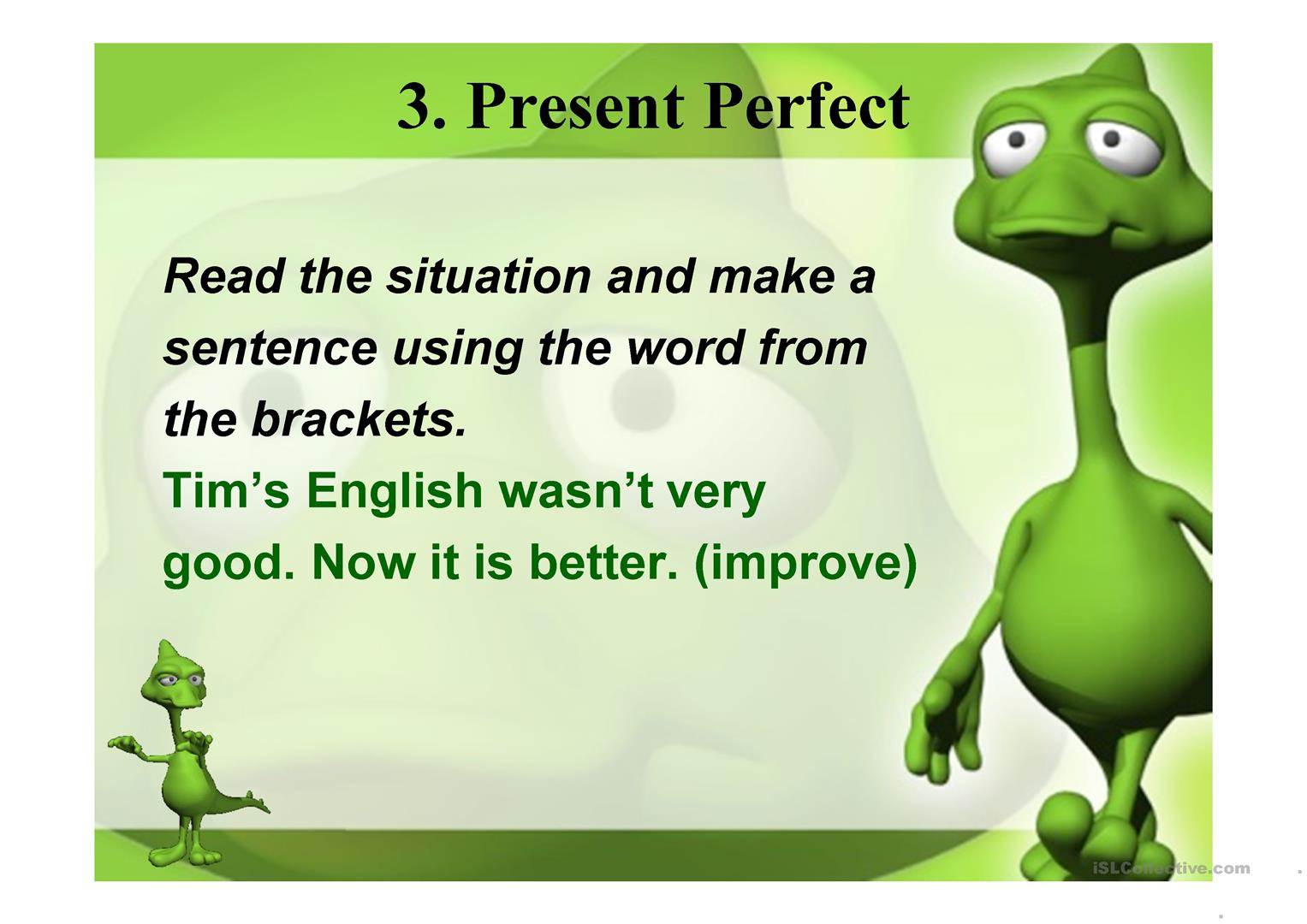 Present Perfect Nessy Worksheet