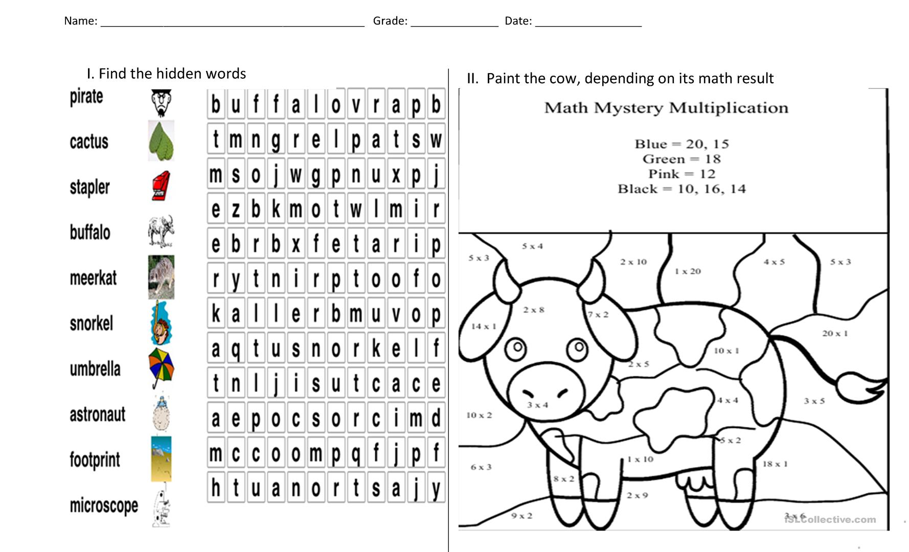 Puzzle And Painting Worksheet