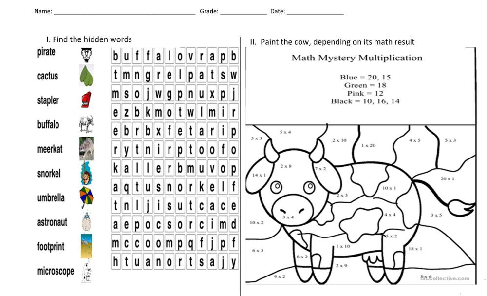 medium resolution of puzzle and painting - English ESL Worksheets for distance learning and  physical classrooms