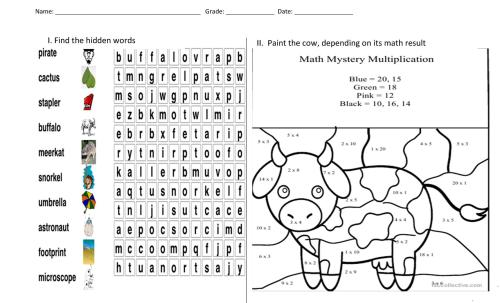 small resolution of puzzle and painting - English ESL Worksheets for distance learning and  physical classrooms