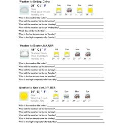 Weather Forecasts - English ESL Worksheets for distance learning and  physical classrooms [ 1079 x 763 Pixel ]