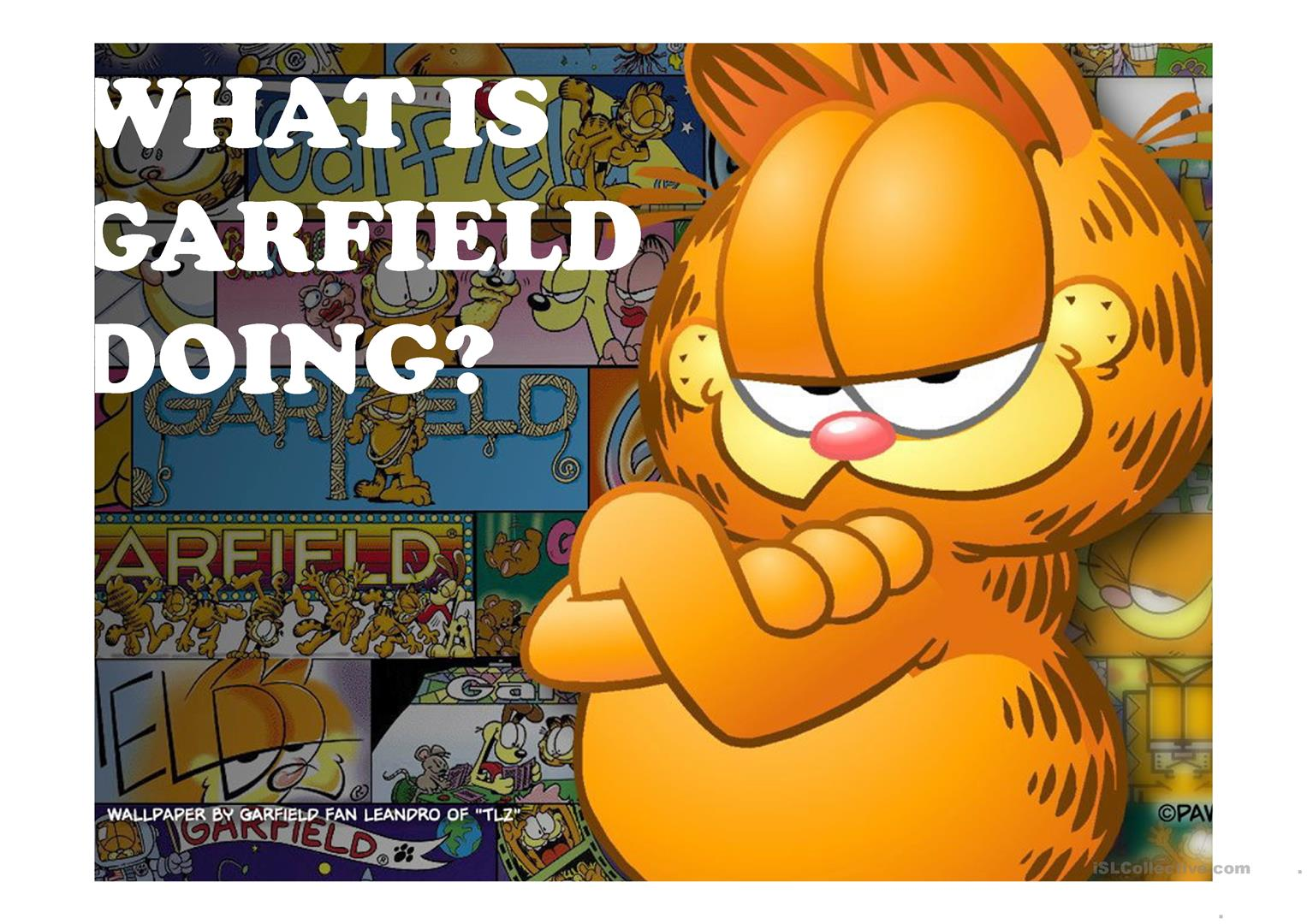 What Is Garfield Doing