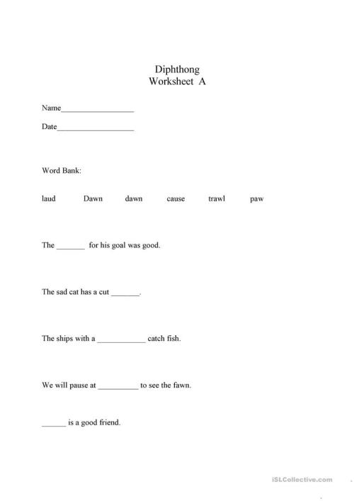 small resolution of Ipa Diphthongs Worksheet   Printable Worksheets and Activities for  Teachers