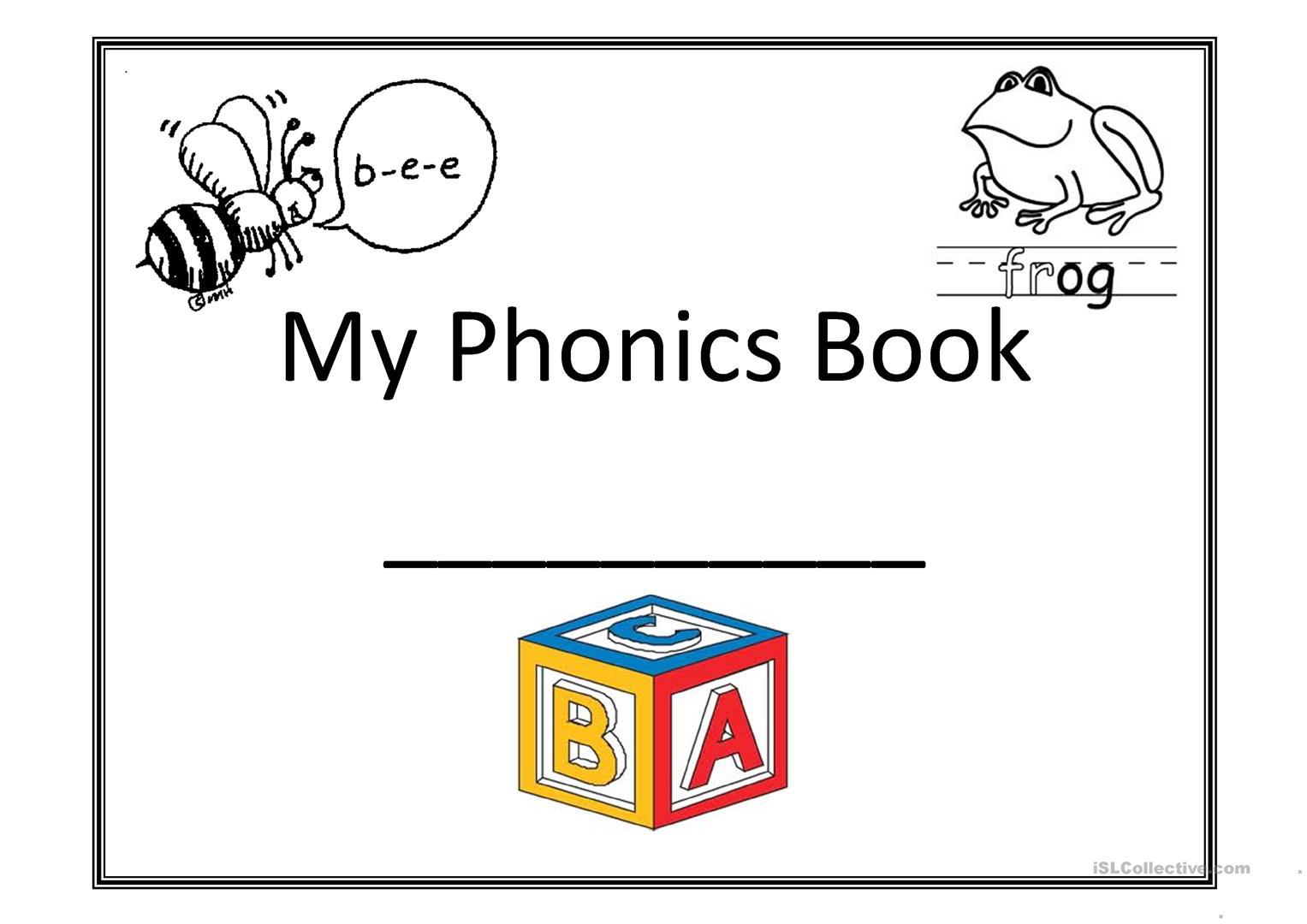 My Phonics Book Worksheet