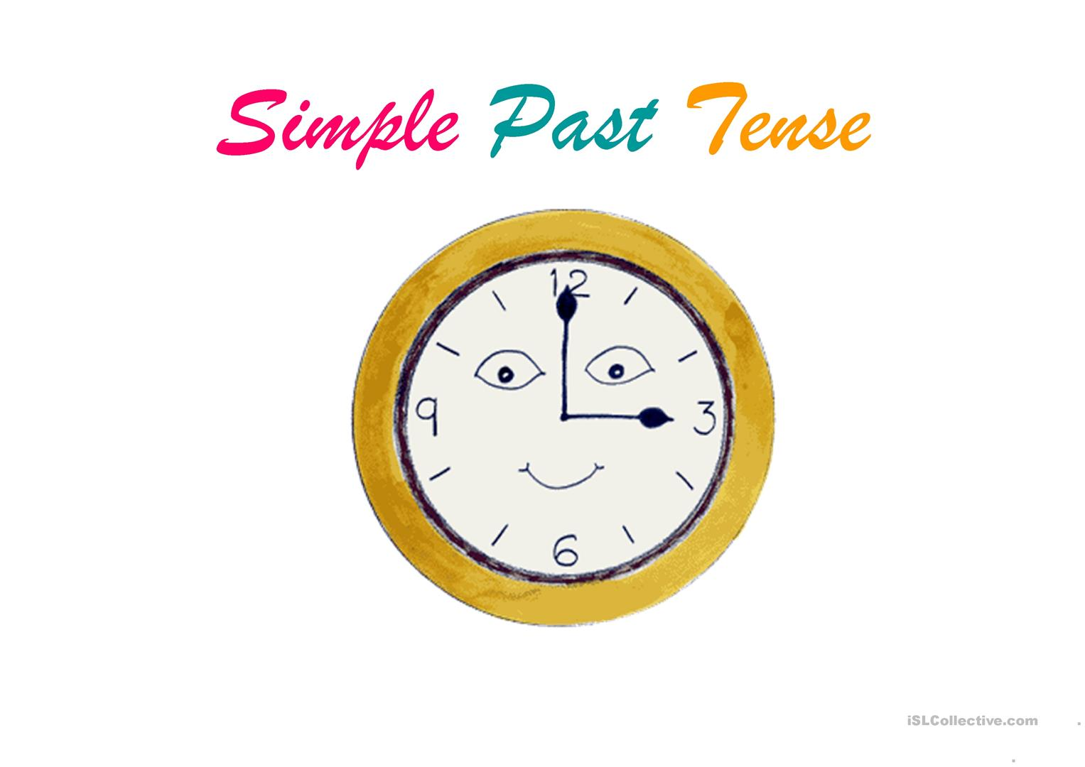 Simple Past Tense Worksheet