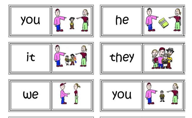 Subject Pronouns Domino English Esl Worksheets For