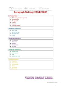 Argumentative Paragraph Writing CONNECTORS worksheet