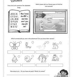 Dora the Explorer - ABC Animals - English ESL Worksheets for distance  learning and physical classrooms [ 1079 x 763 Pixel ]