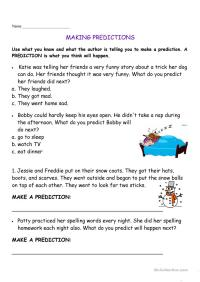 making predictions worksheet - Free ESL printable ...