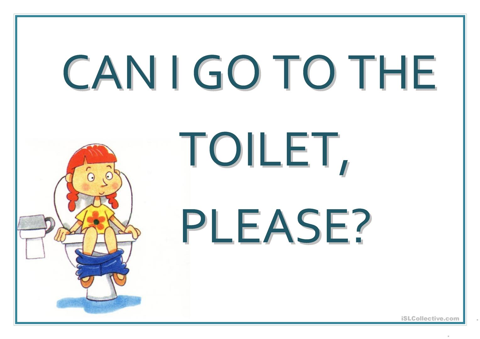 Poster Can I Go To The Toilet Worksheet