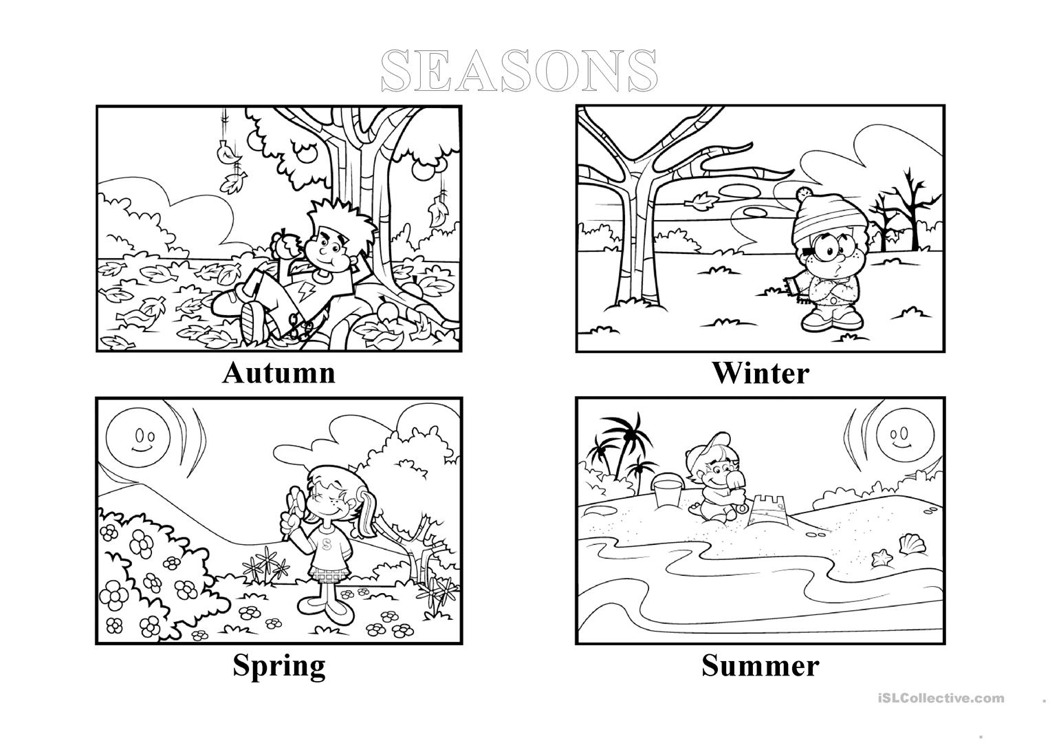 The Different Seasons Worksheet