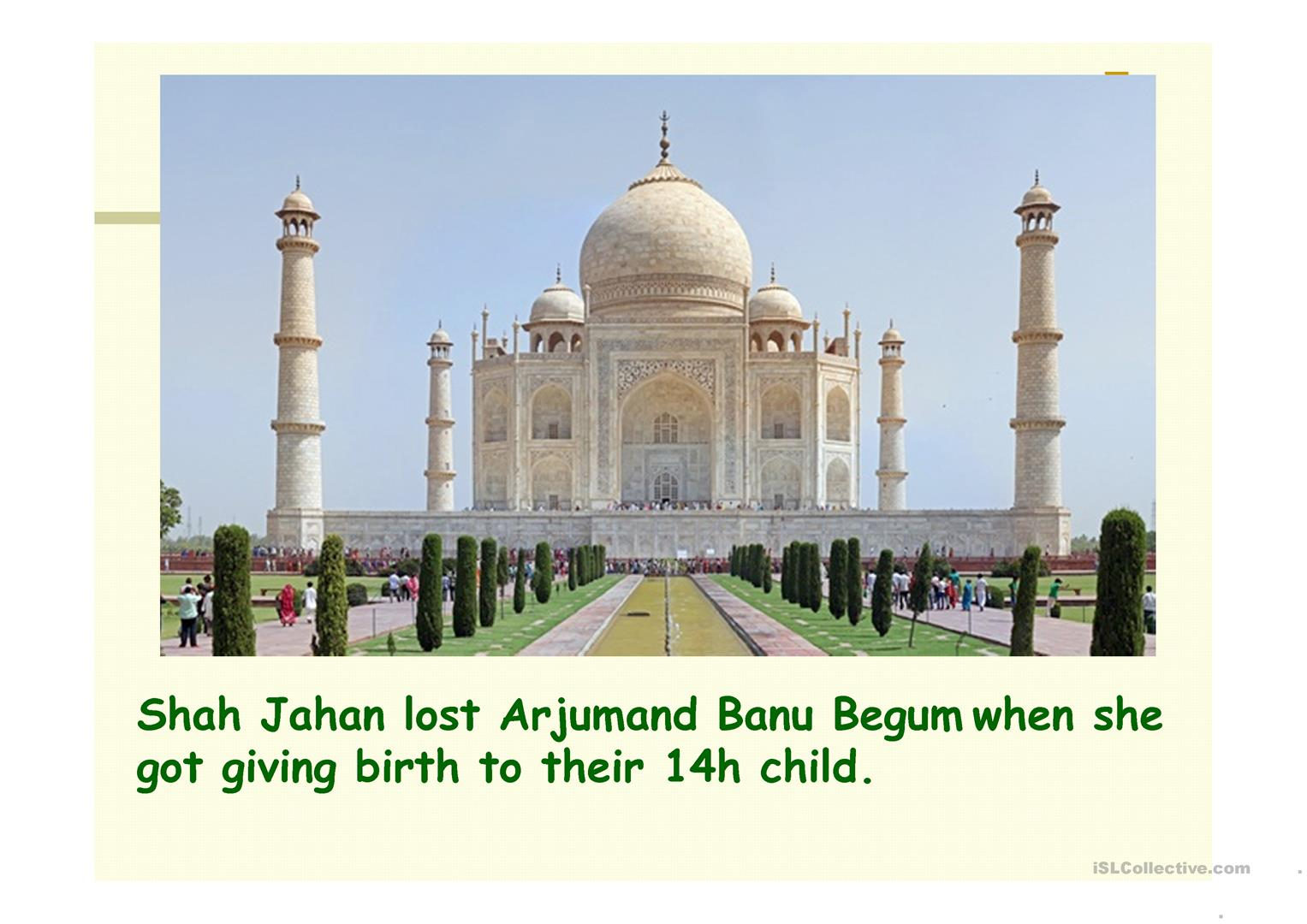 Taj Mahal One Of The Seven Wonders Of The World