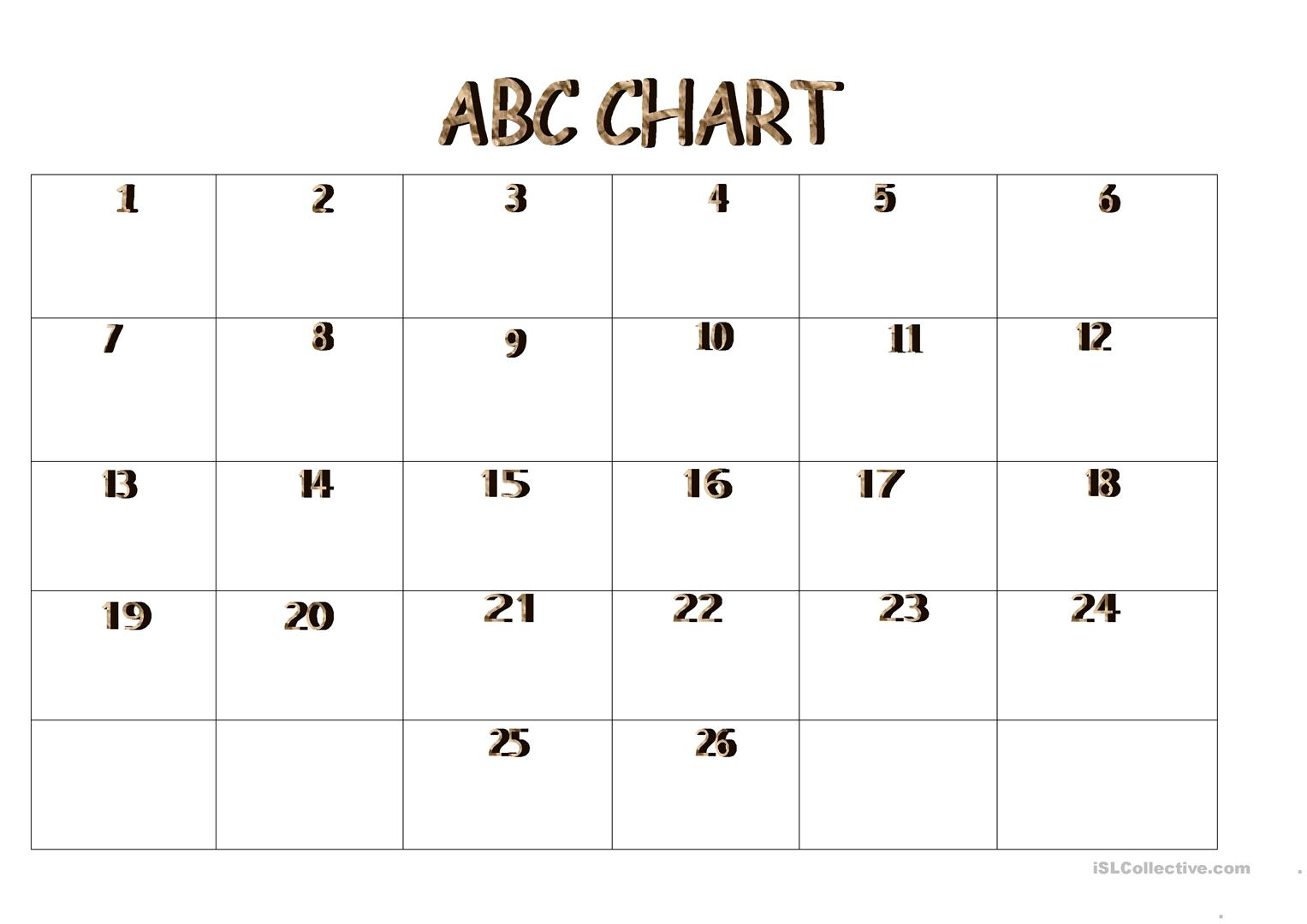 Abc Chart Worksheet