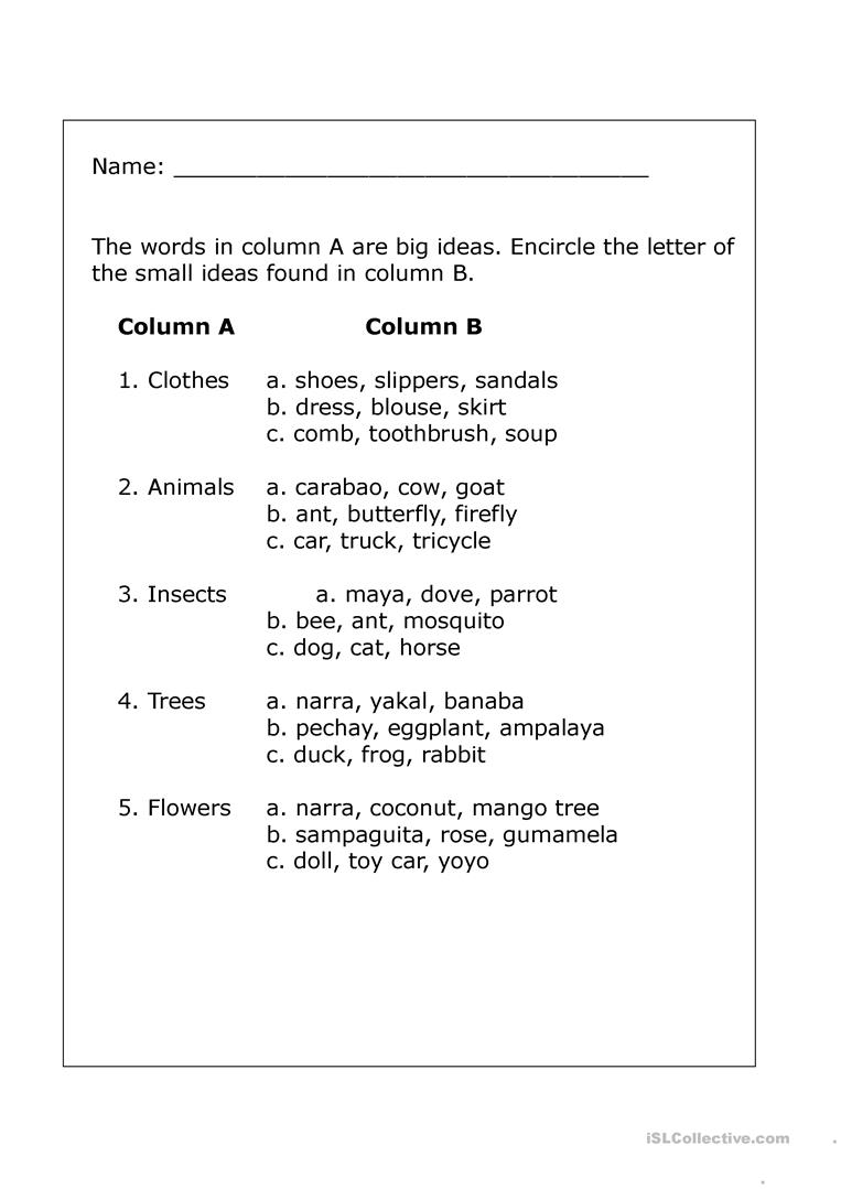 medium resolution of big and small ideas - English ESL Worksheets for distance learning and  physical classrooms