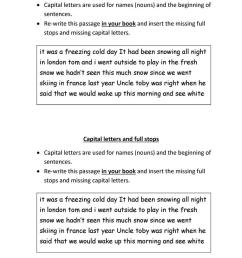 Capital letters and full stops - English ESL Worksheets for distance  learning and physical classrooms [ 1079 x 763 Pixel ]