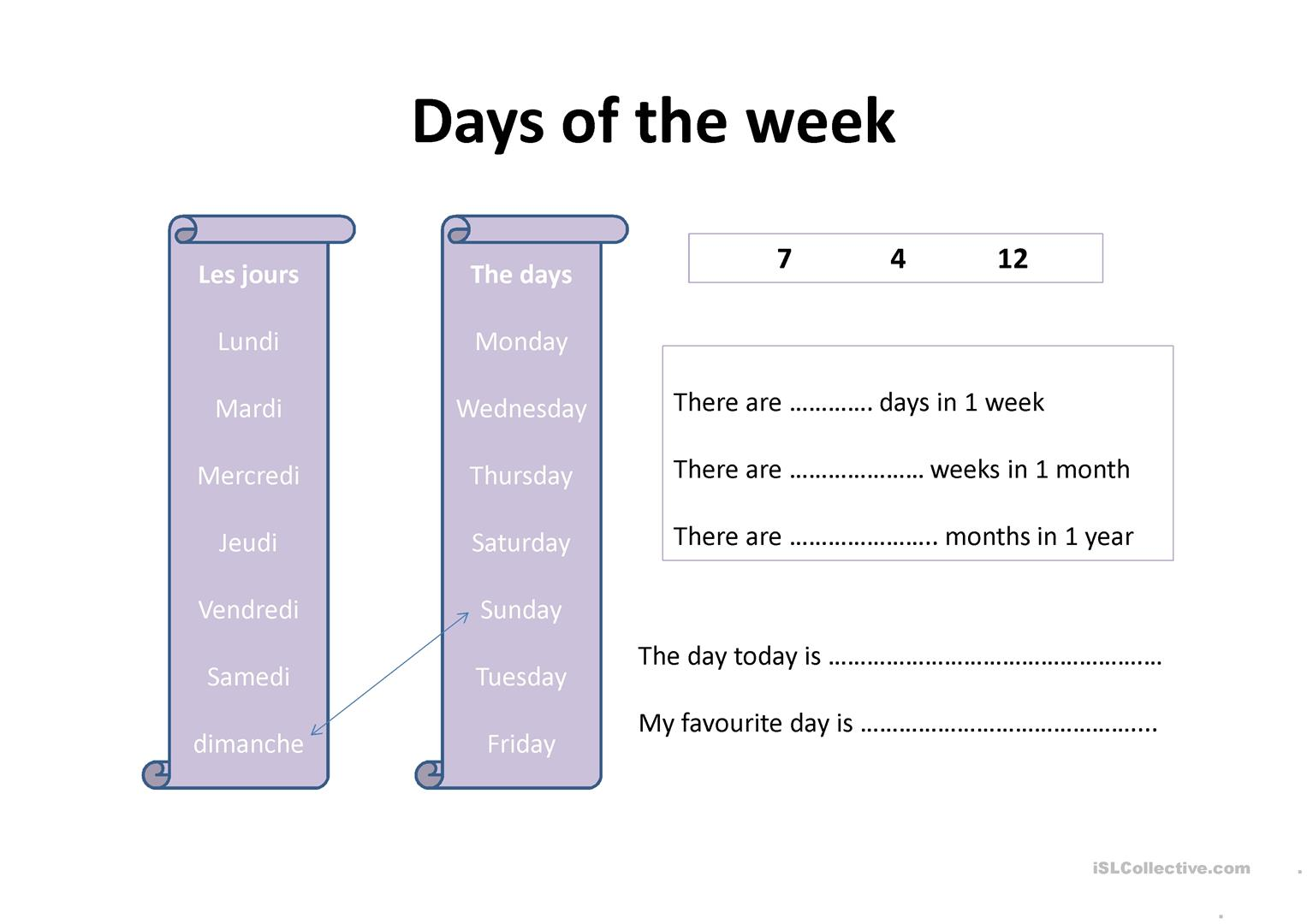 Days Months Amp Seasons Worksheet