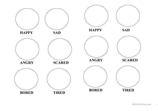 Emotions - coloring pages - English ESL Worksheets for distance