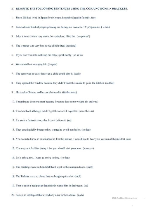 small resolution of linkers and connectors - English ESL Worksheets for distance learning and  physical classrooms
